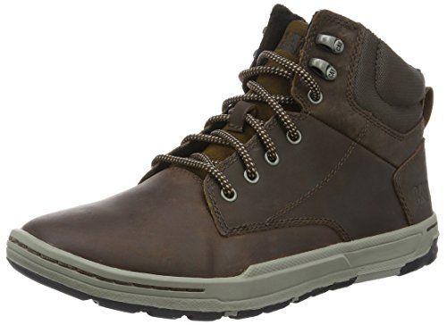 Cat Footwear COLFAX MID - Altas de cuero hombre, Marrón (Braun (MENS DARK BROWN)), 45