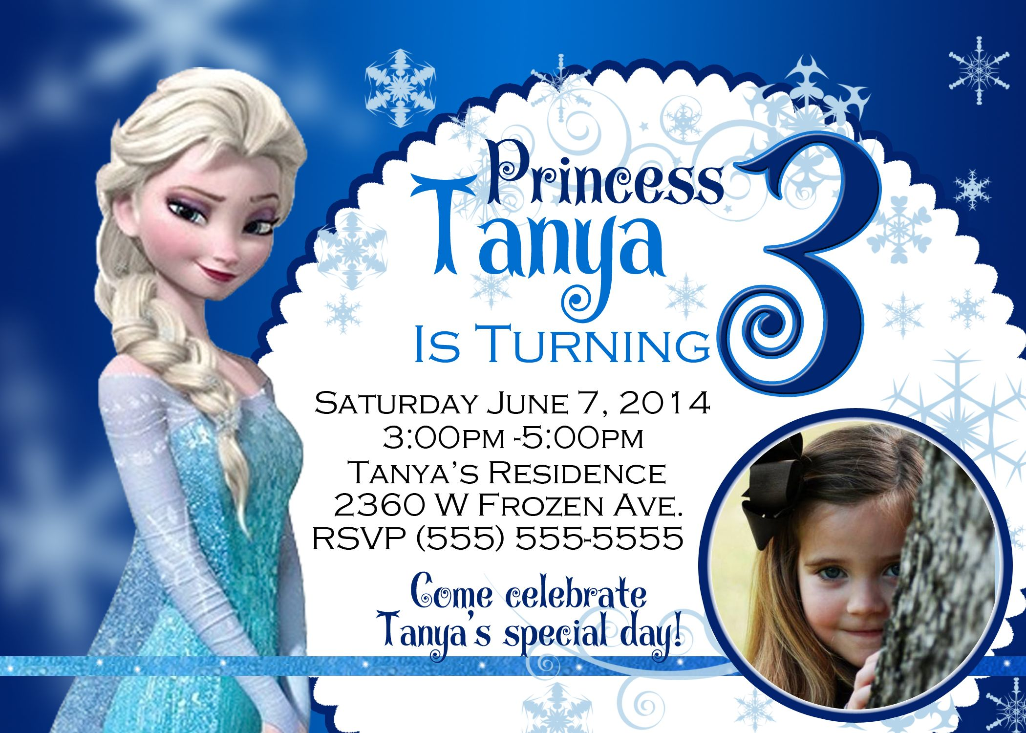 Free Dyi Frozen Bday Invitation Templates