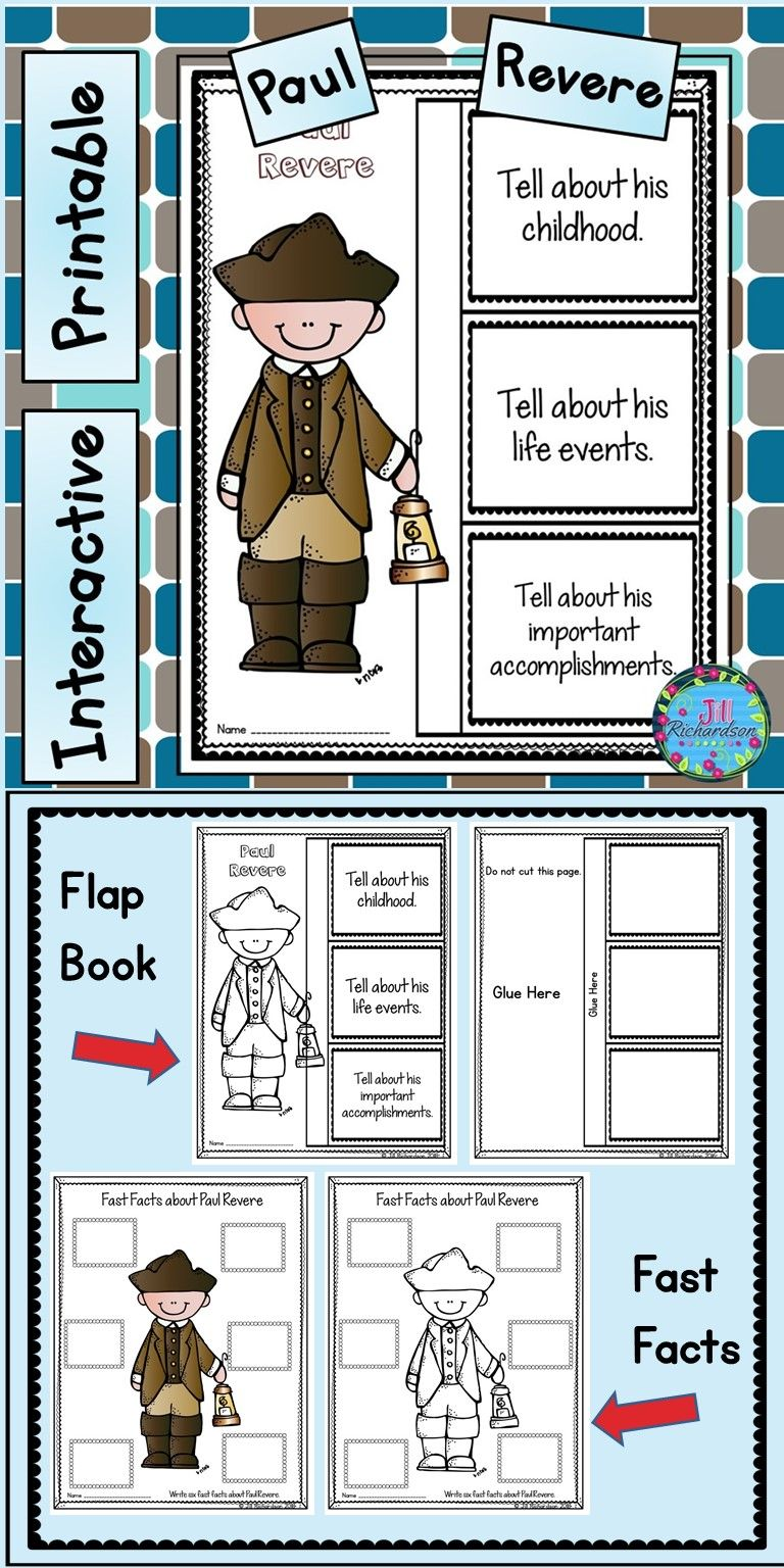 Paul Revere Writing Primary Teachers Resources Early Childhood Literacy Fun Learning