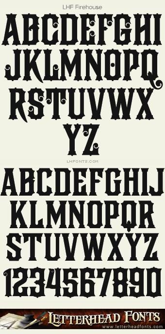 Letterhead Fonts / LHF Firehouse font / Vintage Fonts