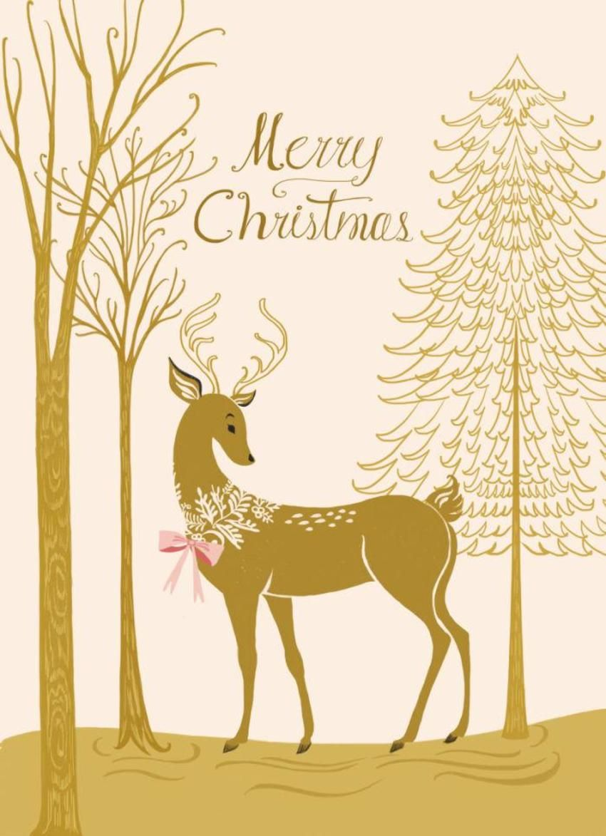 Deer and forest christmas graphics school of visual