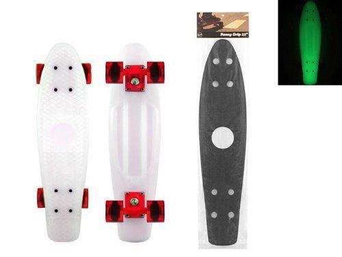 Blank Vinyl Plastic Cruiser Skateboard Complete Glow In