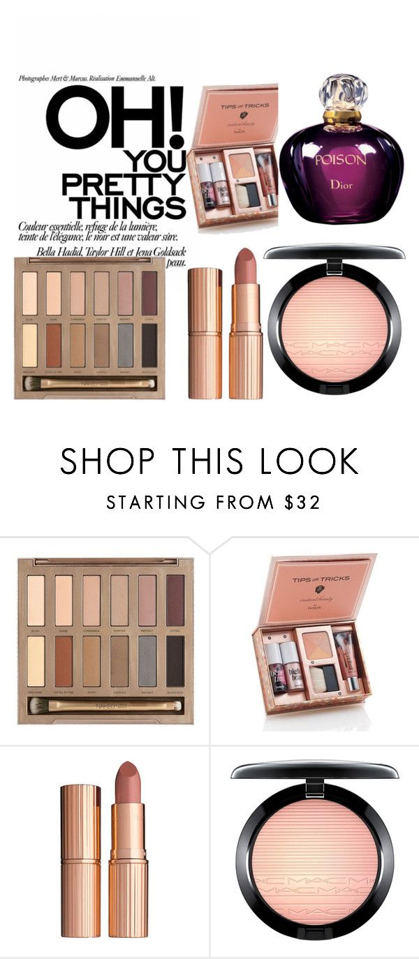 """""""pretty beauty things"""" by kornilia-koukoutsi on Polyvore featuring beauty, Urban Decay, Charlotte Tilbury, MAC Cosmetics and Christian Dior"""