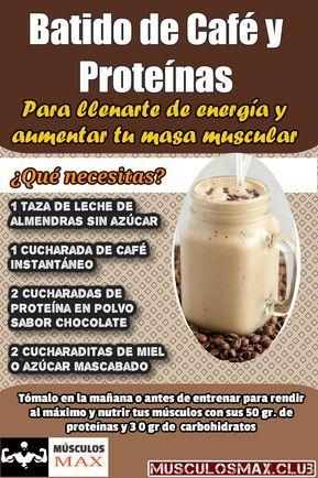 7 Ricos Batidos De Proteínas Para Aumentar Masa Muscular Pruébalos Bebidas Saludables Batido De Café Batidos De Proteínas