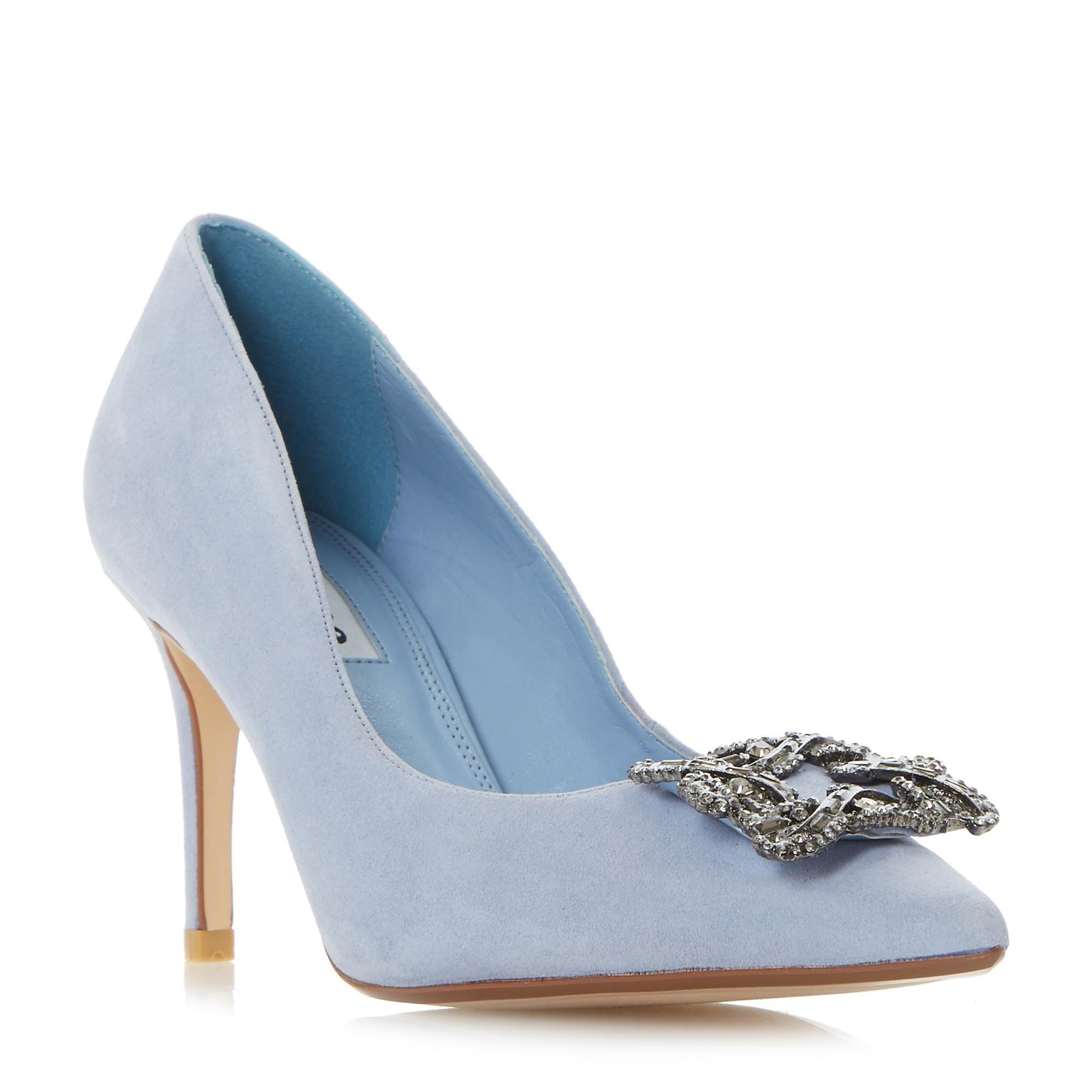 BETTI - Jewelled Brooch Detail Mid Heel Court Shoe