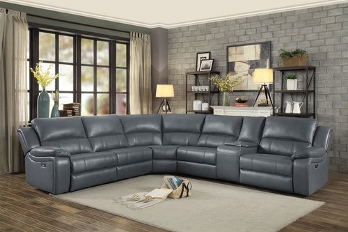 Homelegance Maeve Grey Power Reclining Sectional Sofa 8260gy