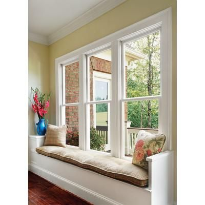 Jeld Wen Windows Doors 3500 Series Vinyl Single Hung Window 24 Inch X 36 Inch F67252 H Single Hung Windows Double Hung Windows Exterior Sunroom Windows