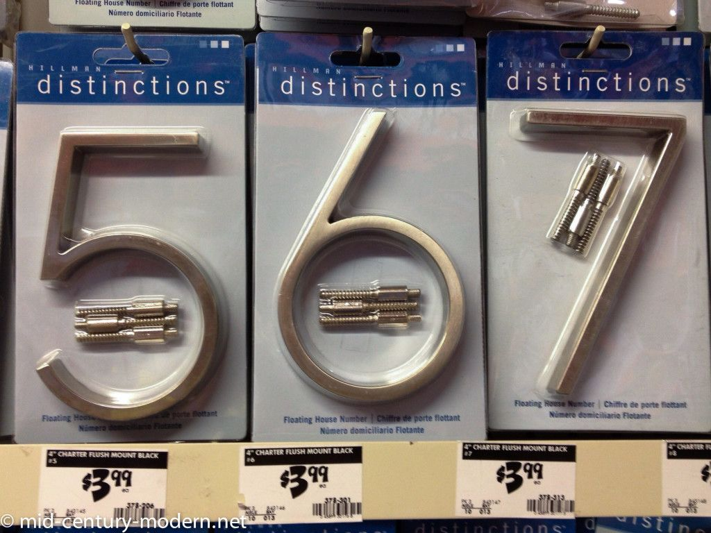 Abailable At Home Depot Updating House House Numbers Midcentury Modern