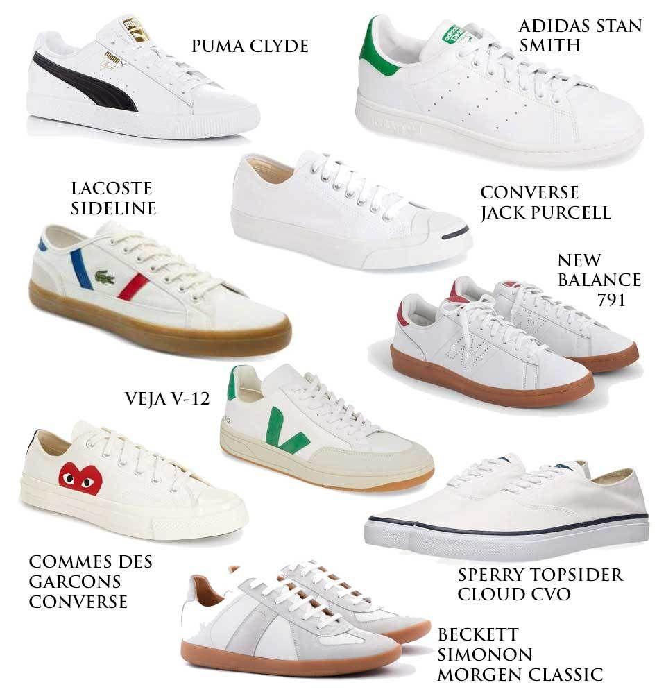 popular white sneakers