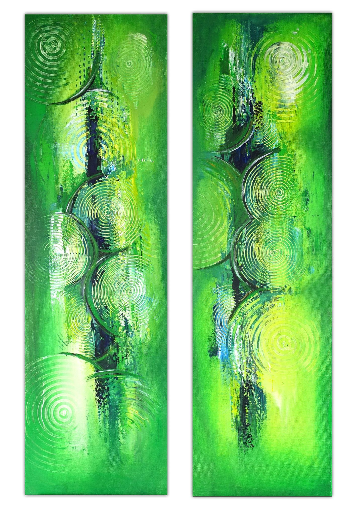 wandbilder grun abstraktes acrylgemalde zweiteilig hochformat 3 4 k wandbild abstrakt leinwand drucken lassen kunstdrucke großformat