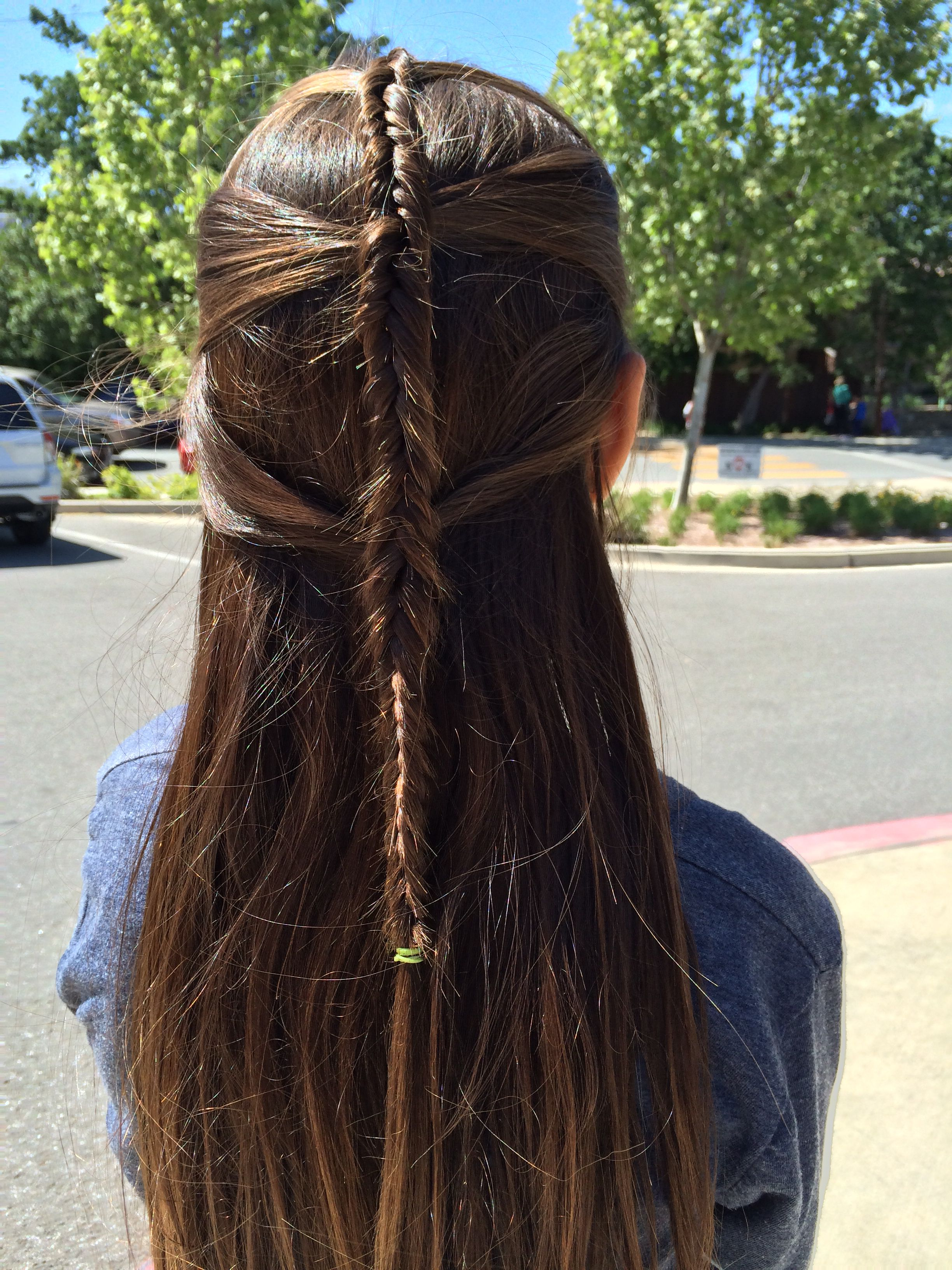 Lord of the rings elf inspired hair.
