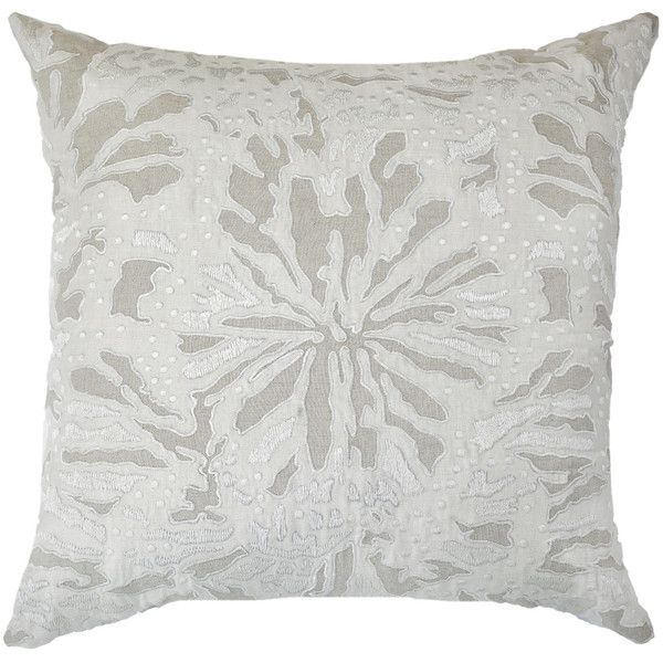 Bandhini Homewear Design Butterfly Linen Cream Throw Pillow ( 207) ❤ liked  on Polyvore featuring home 27e0725c8128