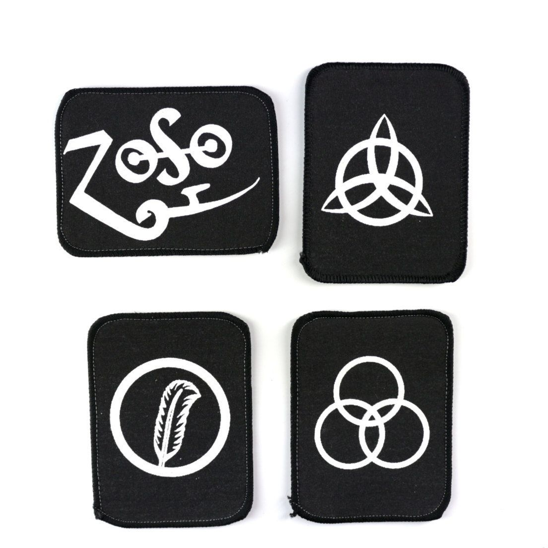 Led Zeppelin Patch Set Vintage Zoso Symbol Sew On Patches