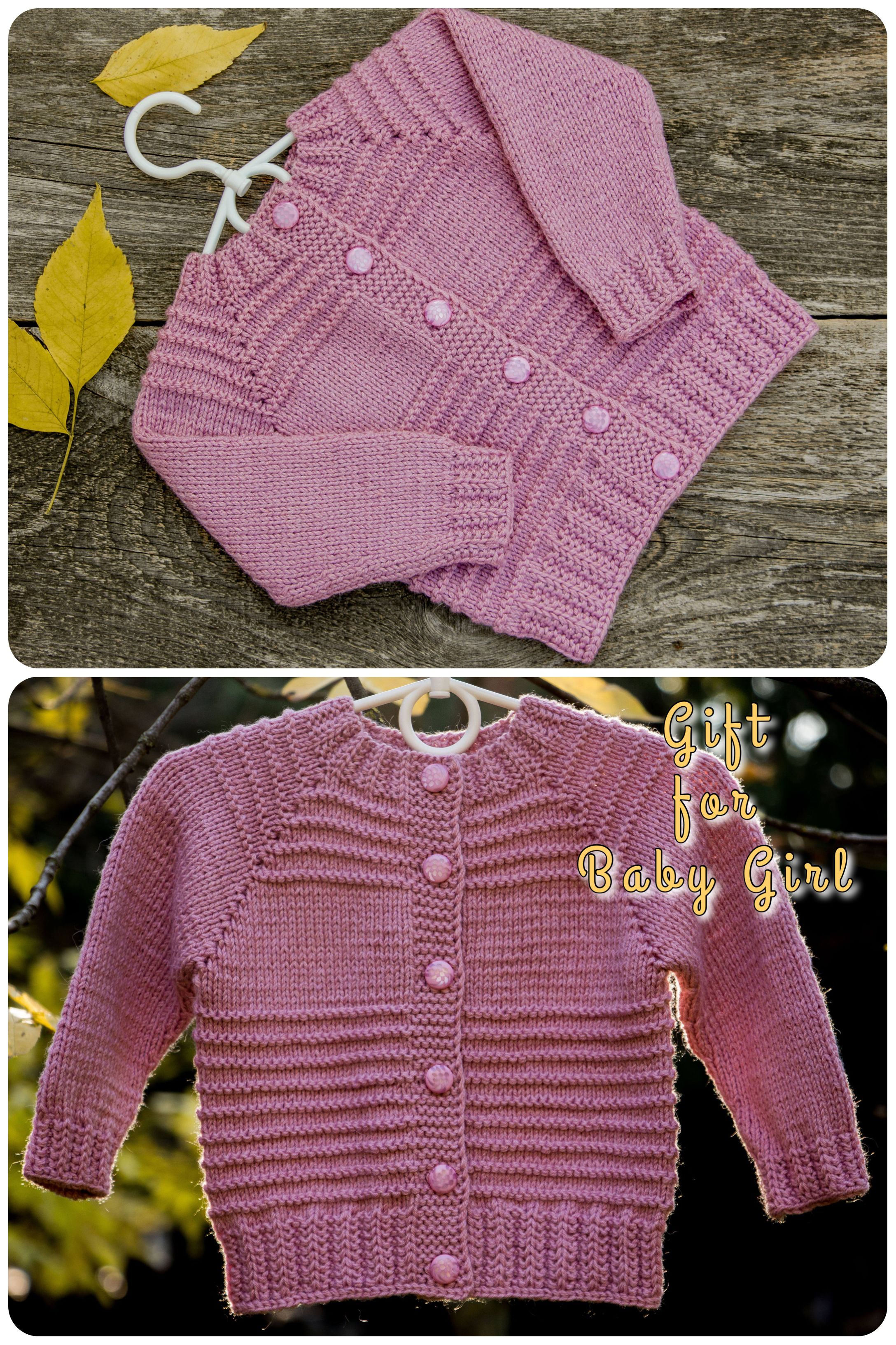e5b40c3769ef Baby shower gift for girl sweater knit light pink sweater coat ...