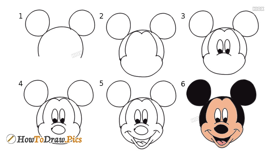 53 Worksheet How To Draw Mickey Mouse In 2020 Mickey Mouse Drawings Mickey Drawing Mickey Mouse Drawing Easy