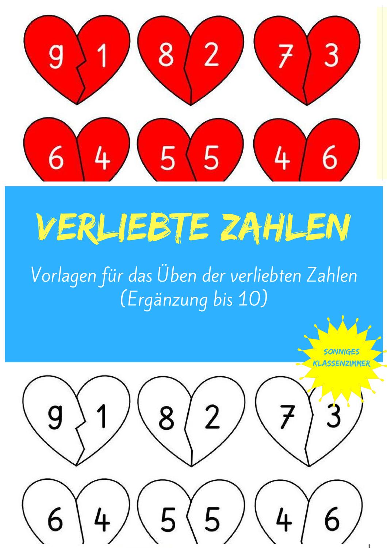 Verliebte Zahlen Unterrichtsmaterial Im Fach Mathematik In 2020 Verliebt Zahlen Vorlagen Mathematik