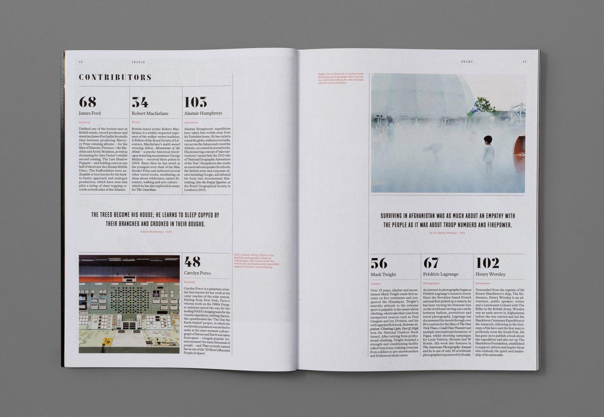 Avaunt Magazine Issue One — Alex Hunting Studio   design: layout + ...