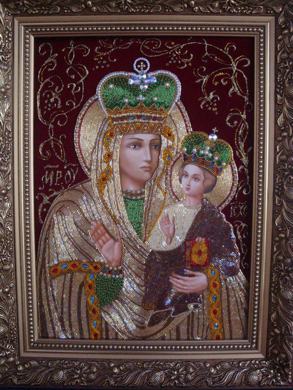 (20) Одноклассники | Православные иконы, Бисер, Украшения