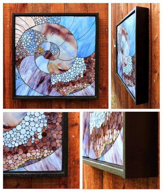 Kasia Mosaics: Purple Spiral