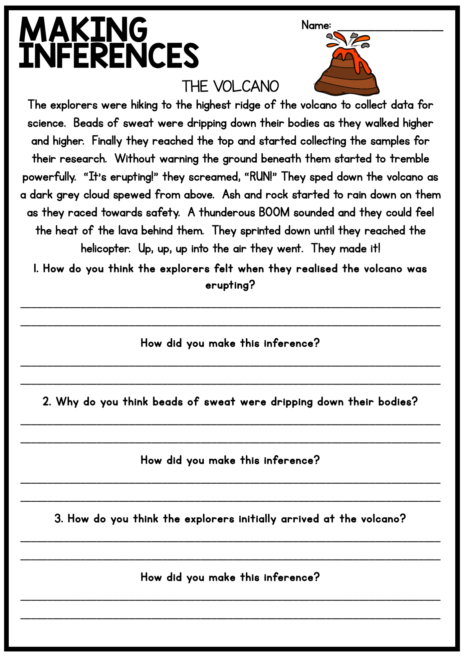 small resolution of Making Inferences and Drawing Conclusions - Reading Worksheet   5th grade  worksheets
