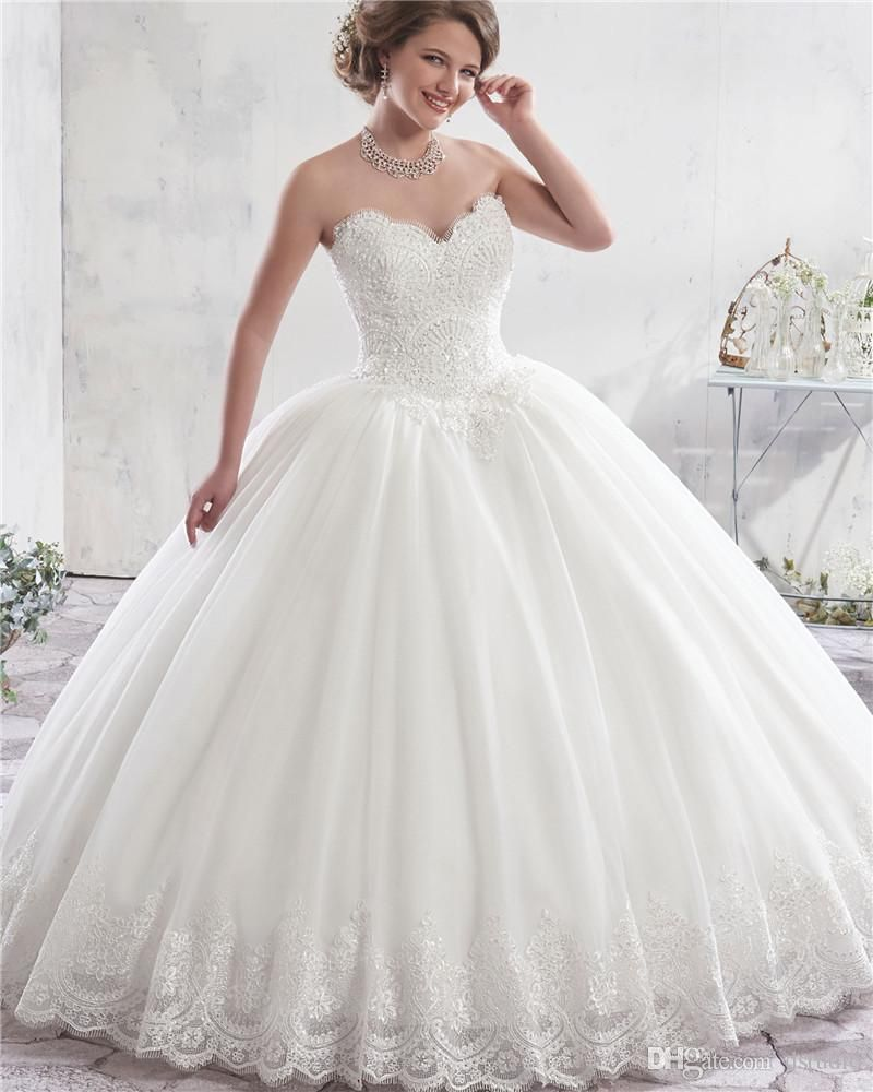 Fabulous ivory ball gown wedding dress lace bridal gowns with bolero