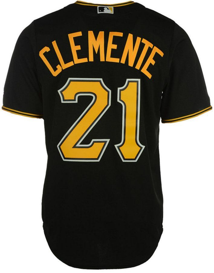 67b09a6d7 Majestic Men s Roberto Clemente Pittsburgh Pirates Cooperstown Replica  Jersey