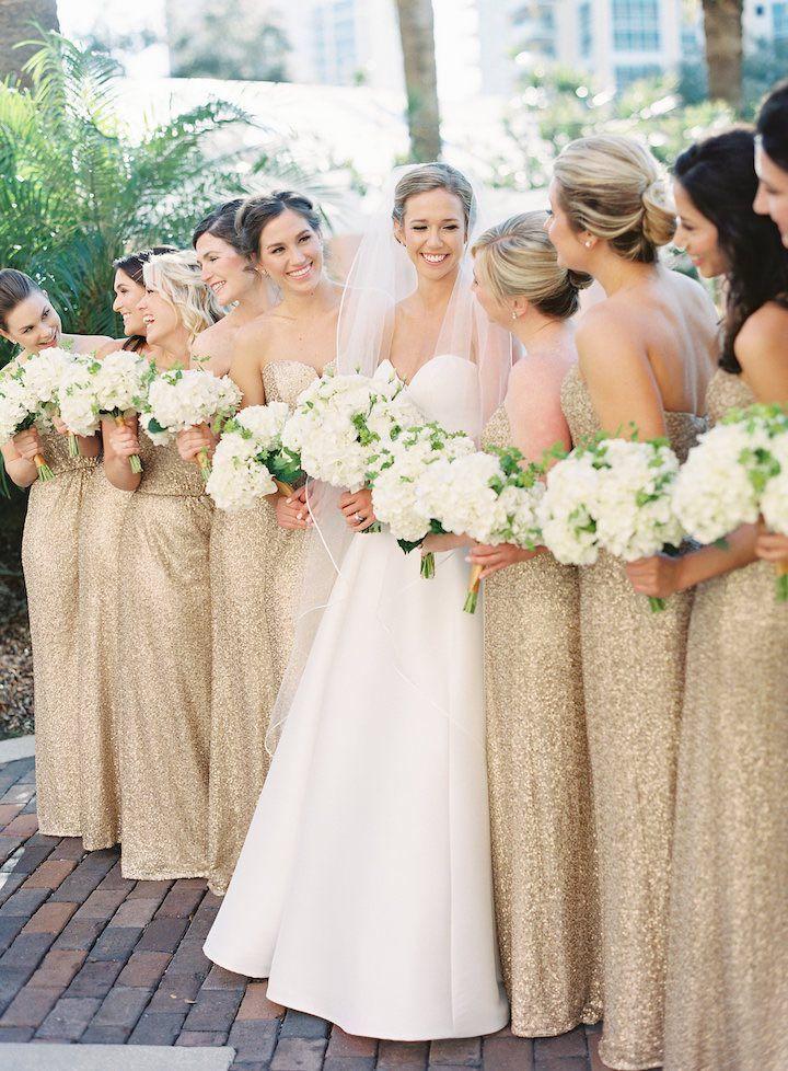 Elegant Gold New Year's Eve Florida Wedding Wedding