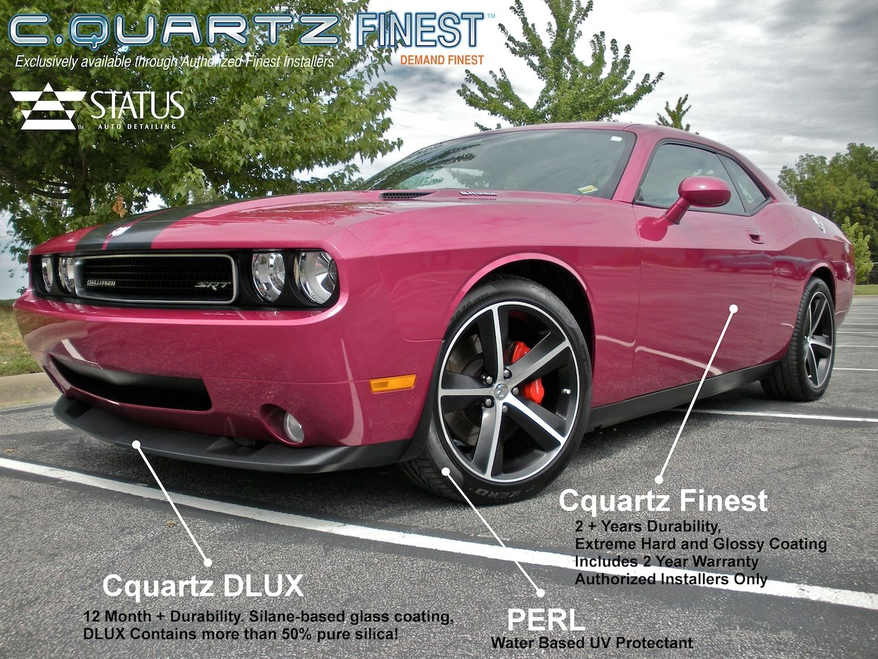 Dodge Challenger With Cquartz Finest Cquartz Dlux And Carpro Perl Protectant Autodetailingspringfieldmo Cquar Springfield Missouri Car Detailing Springfield