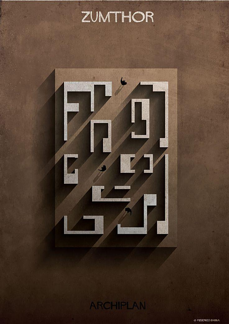 Archi Plan federico babina - archiplan zumthor #archiplan | idea | pinterest