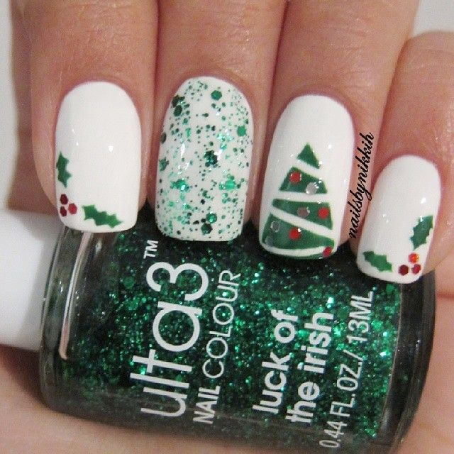 Lou Is Perfectly Polished Christmas Nails Christmas Trees: INK361. A Great Service For Viewing And Sharing Instagram