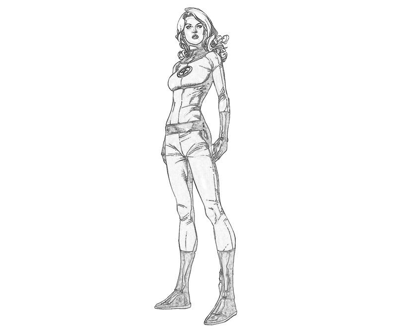 Printable Fantastic 4 Invisible Woman Cartoon Coloring Pages ...