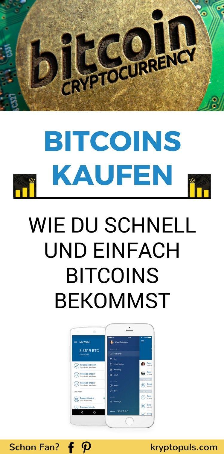 Schnell Bitcoins Kaufen