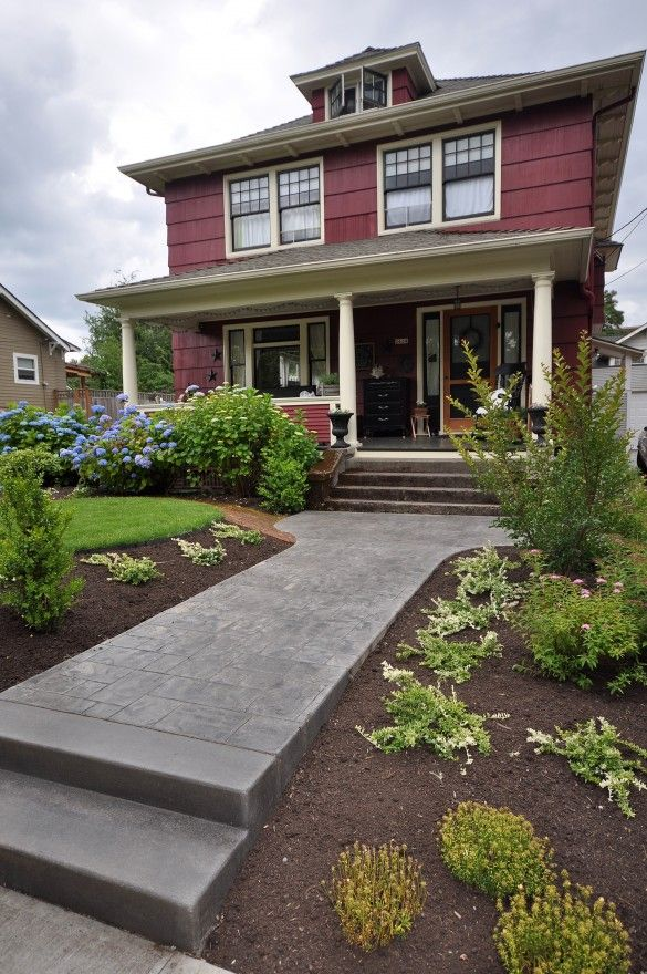 Exterior Of Mudroom Addition In Portland Oregon I Love The Porch: Vintage Portland Foursquare I Fucking LOVE This Craftsman Portland Thing