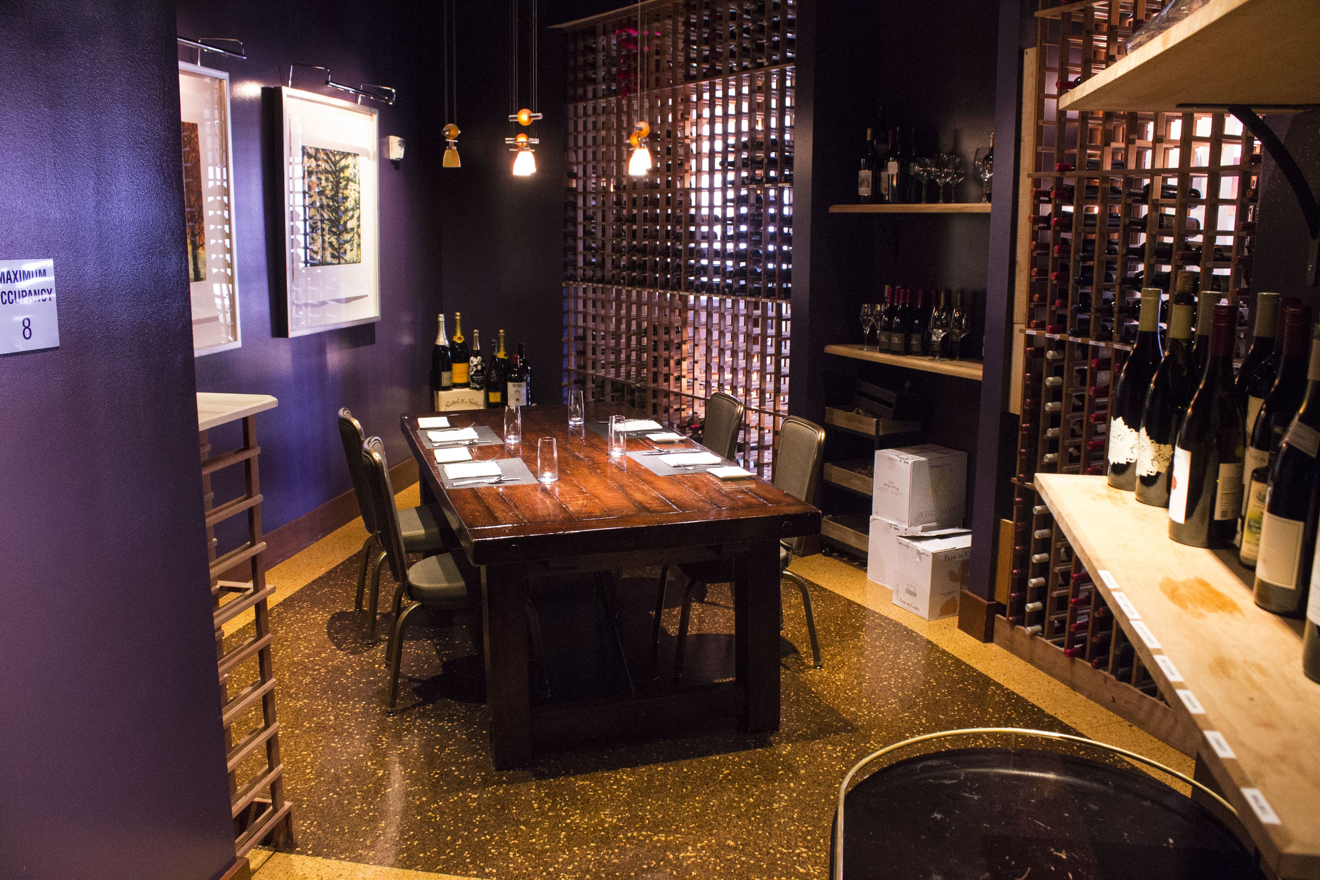 The Cellar Located In Wine Room
