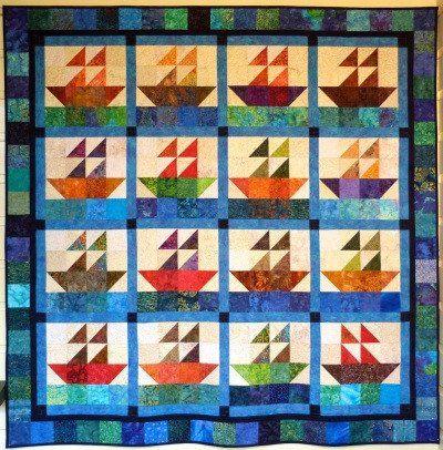 Big Block Big Quilt - Sailing using 5 Inch Squares   Quilt ... : 5 inch quilt block patterns - Adamdwight.com