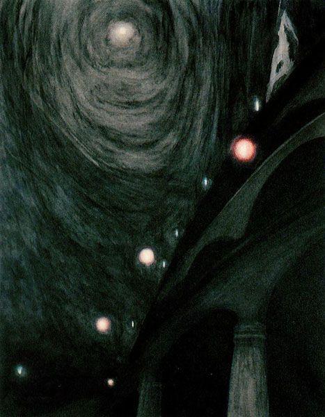 Léon Spilliaert - Clair de Lune et lumières (Moonlight and Light) [1909]