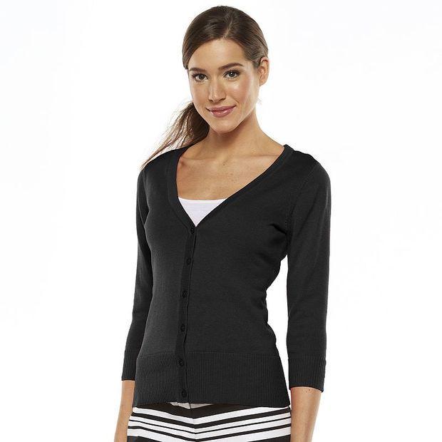 AB Studio Solid Cardigan - Women's, Size: