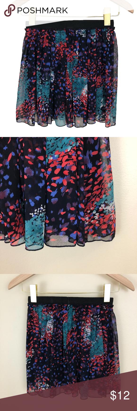 FOREVER21 Mini Skater Skirt ▫️Black with pink 0a496e254