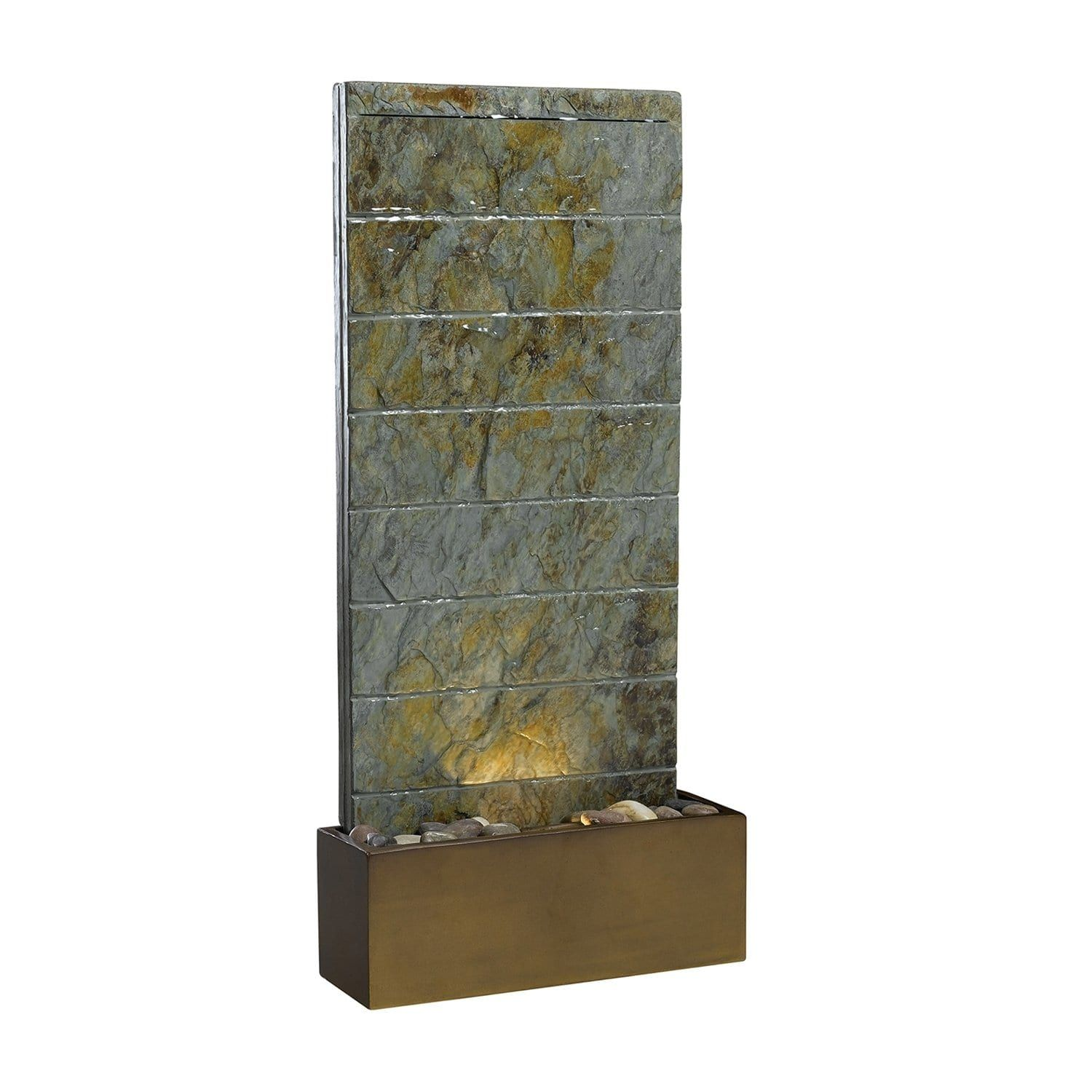 Shop Kenroy Home 50621SL Brook Outdoor Table/Wall Fountain at The ...