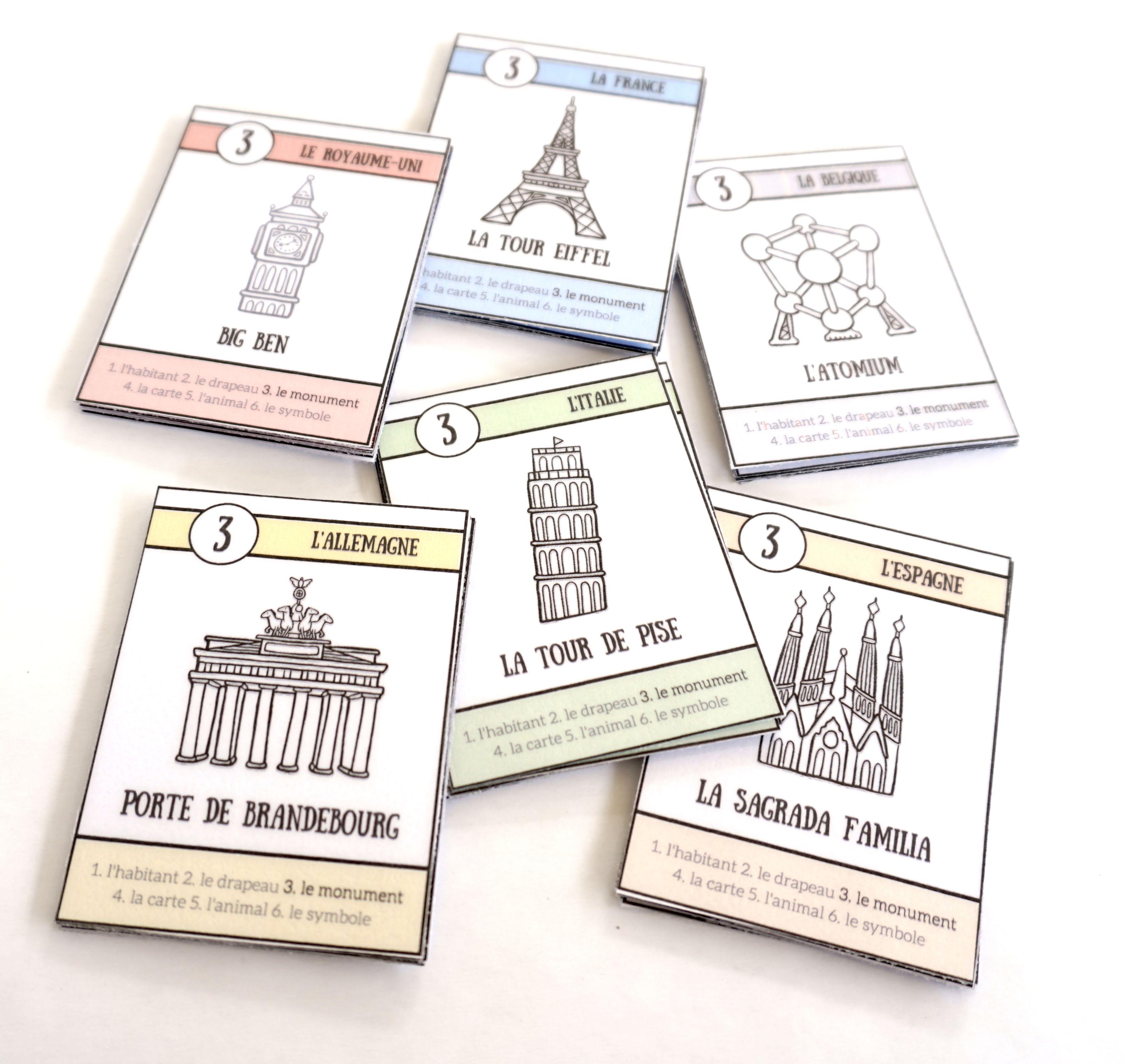 Carte Belgique Jeux.Pays D Europe Le Jeu De 7 Familles A Telecharger