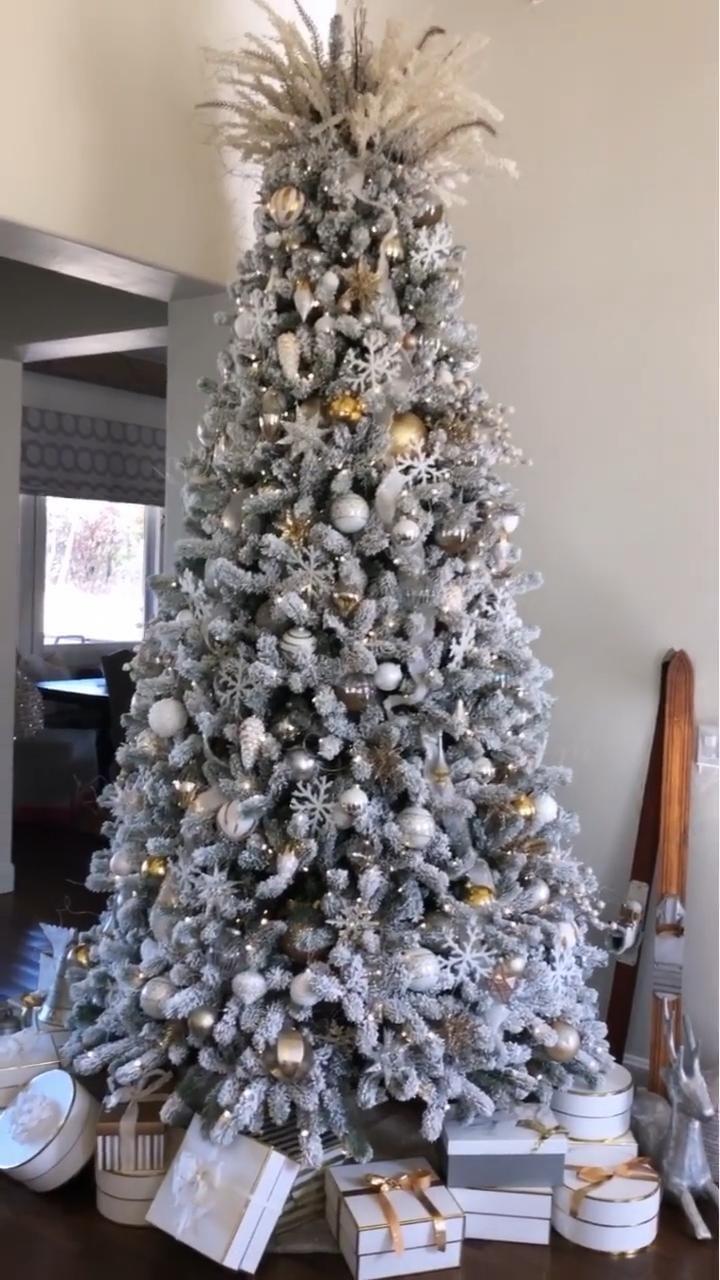 Flocked Christmas tree decor Sneak peek of my king