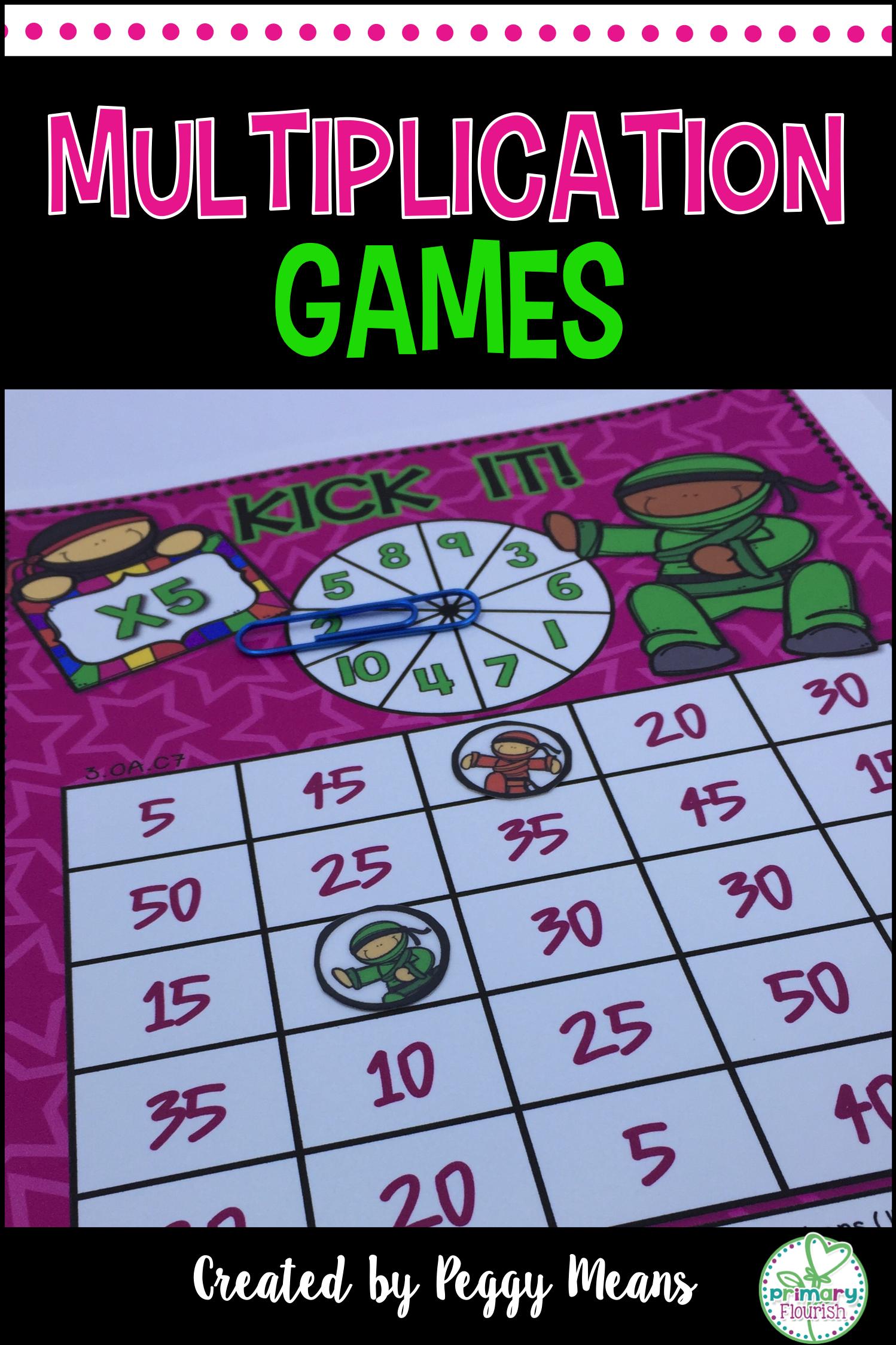 Math Fact Fluency Multiplication Games
