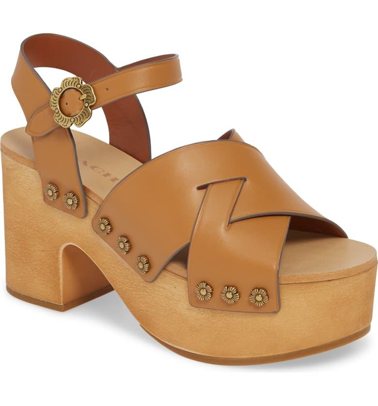 COACH Nessa Clog Platform Sandal (Women