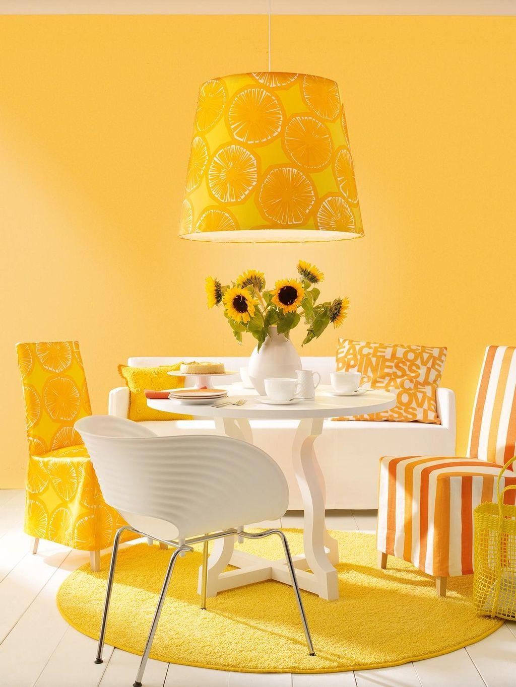 Honey Schoner Wohnen Trendfarbe Wandfarbe Esstisch Wandgestaltung Gelbewand Lampe Gelbewandfarbe Schonerwoh Mit Bildern Dekor Schoner Wohnen Farbe Gelbes Esszimmer