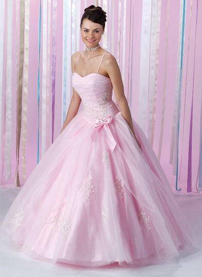 Soft Pink Wedding Dress - Ocodea.com