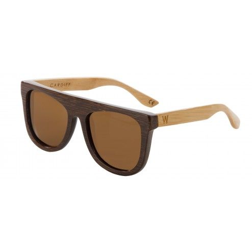 bf623a1961 Cardiff Bamboo Two-Tone Brown Natural Sunglasses - Bronze