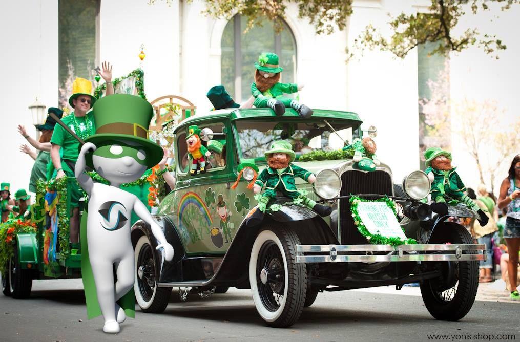 Pour la St Patrick, Super Yonis a troqué sa tenue bleue pour une tenue verte. Yonis-Shop.com