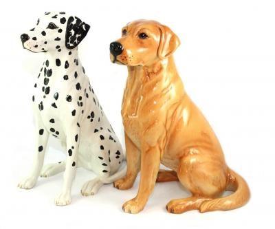 A Large Beswick Dalmation No 2271 And A Beswick Labrador No 2314 Miniature Dogs Dog Decor Dog Figurines