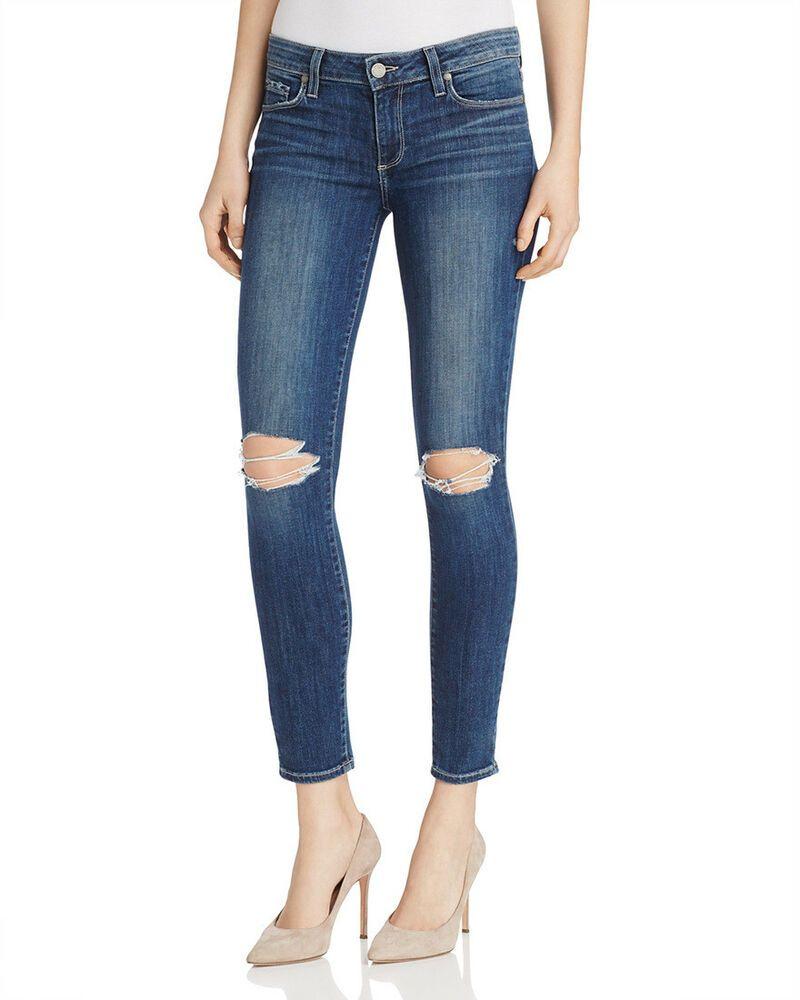 PAIGE Womens Verdugo Ankle Skinny Jean