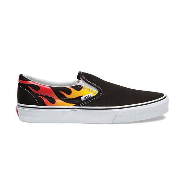 2vans slip on hombre fire